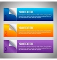 Set of 3 paper banners vector image vector image