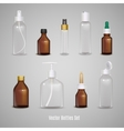 Set Of Transparent Realistic Bottles vector image vector image