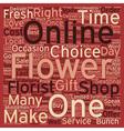 Shop Fresh Flower online text background wordcloud vector image vector image