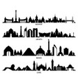 skyline with historic architecture mexico vector image vector image