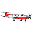 Small propeller airliner vector image vector image