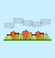 small town infographic vector image vector image