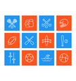 sports and games icons linear style vector image