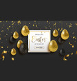 spring easter web sale banner with gold luxury egg vector image