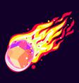 stone meteorite icon cartoon style vector image vector image
