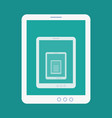 tablet recursion flat icon vector image vector image