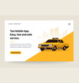 taxi services mobile app website template retro vector image vector image