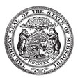the great seal of the state of missouri vintage vector image vector image