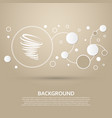 tornado icon on a brown background with elegant vector image vector image