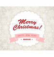 vinatage christmas card vector image vector image
