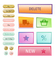 web elements shop buttons buy element cart vector image vector image