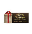 wooden christmas banner for new year 2019 vector image vector image