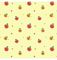 Yellow and red apples on light background vector image vector image