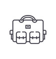 travel bag vacation case line icon sign vector image