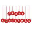 merry christmas xmas celebration vector image