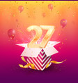 27 th years anniversary design element vector image vector image