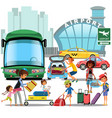 airport transfer public transport like car and vector image