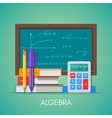 Algebra math science education concept vector image