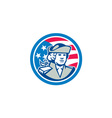 American Patriot Bust Stars and Stripes Flag vector image vector image