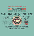 arctic north sea route discovery sailing adventure vector image vector image