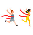 athletic run man people jogging summer sport vector image vector image