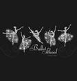 ballerina silhouettes set dancing girls classic vector image vector image