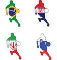 basketball colors of Brazil Croatia Iran Slovenia vector image