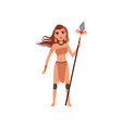 beautiful amazon girl character ancient warrior vector image vector image