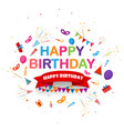 birthday celebration background with festive icon vector image vector image