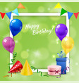 birthday party frame realistic vector image vector image
