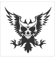 Black eagle and skull vector image