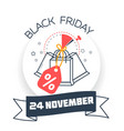 black friday packages vector image vector image