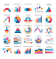 business data graphs financial and vector image vector image