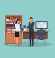 business people at office vector image vector image