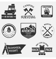 camping badges vector image vector image