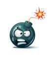 cartoon bomb fuse wick spark icon anger spite vector image