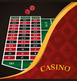 casino game concept vector image