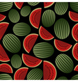 Colorful melon fruits dark seamless pattern eps10 vector image