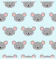 cute cartoon mouse seamless pattern vector image vector image