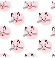 cute kitty muzzle pattern seamless pattern with vector image