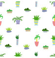 cute seamless pattern with house plants flowers vector image vector image