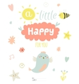 Cute summer card with character vector image vector image