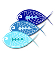 Design for business fish vector image