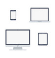 devices flat icons isolated on white vector image vector image