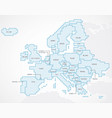 europe continent with separated states vector image vector image