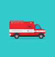 fire truck flat cartoon vector image vector image