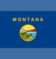 flag usa state montana vector image