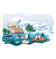 flood in city or village calamity or apocalypse vector image vector image