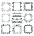floral filigree frames and ornamental decorations vector image vector image