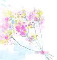 Floral watercolor abstract background for the card vector image vector image